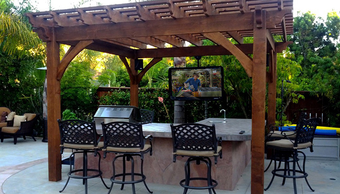 Backyard TV and Bar
